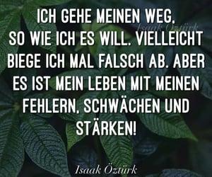 spruch, deutsch, and stark image