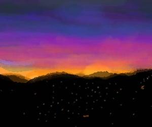 landscape, sunset, and murree image
