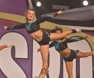 bow, cheerleader, and flexibility image