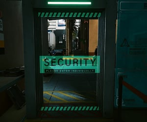 cyberpunk, dark, and door image