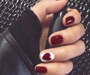 belleza, nail, and heart image