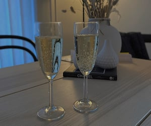 champagne, chanel, and interior image
