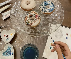 art, donuts, and food art image