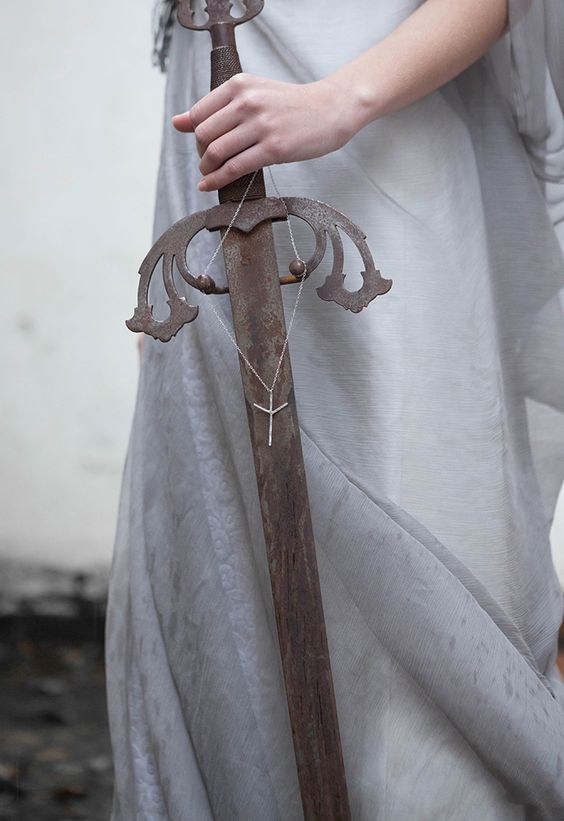 sword, dress, and fantasy image