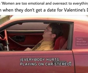 date, dwight schrute, and sad image