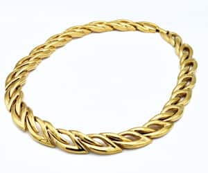 gift for her, gold plated links, and gold chain image