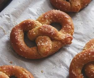 pretzel, food, and delicious image