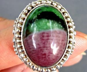 etsy, gem stone ring, and vintage ring image