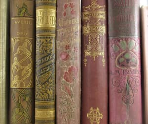 book, pink, and antique image