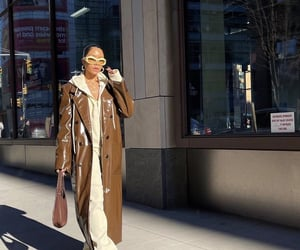 brown bag, street style, and everyday look image