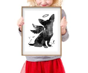 etsy, black watercolor, and memorial gift image