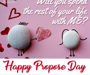 hearts, happy propose day, and Valentine Day image