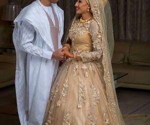 bride, bride & groom, and love image