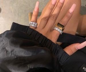 long nails, rings, and nails image