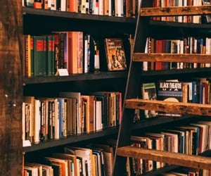 books, bookshop, and reading image