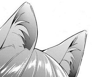 anime, black white, and catgirl image