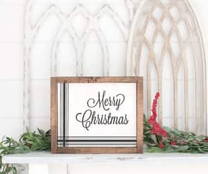 etsy, merry christmas, and wood signs image