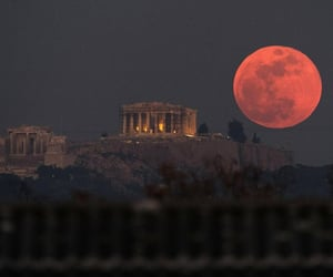 architecture, greek, and dark image
