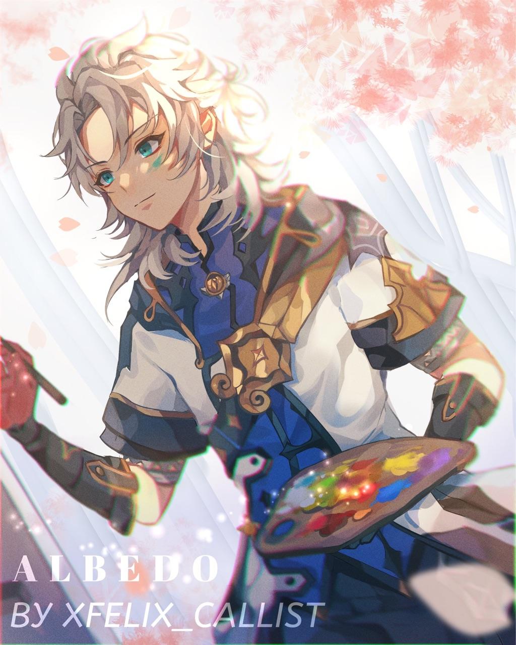 anime, video game, and albedo image
