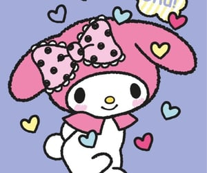 background, my melody, and sanrio image