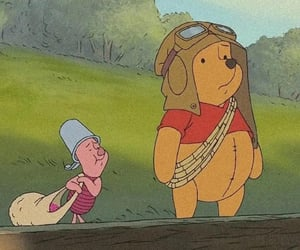 cartoon, disney, and piglet image