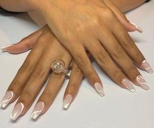 manicure, beautiful nails, and nail art image