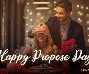 couples, propose, and valentine image
