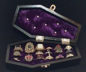 accessories, black, and crystals image