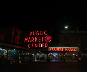 nights, city, and seattle image