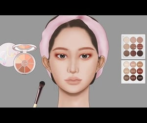 cosmetics, video, and women image