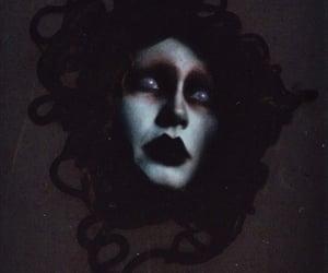 art, creepy, and medusa image