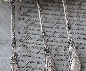 vintage, antique, and spoon image