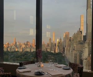 view, new york, and dinner image