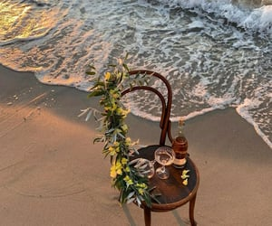 article, beach, and peace image
