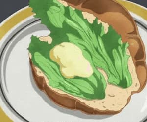 anime, food, and anime food gif image