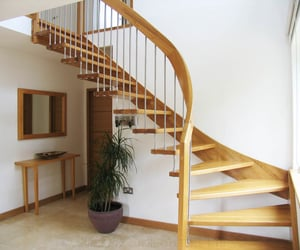 glass spiral staircase, small spiral staircase, and floating staircases image