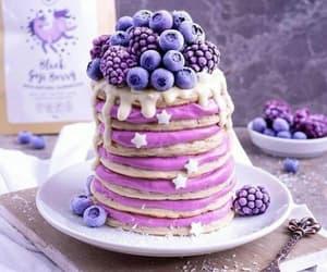 food, pancakes, and purple image