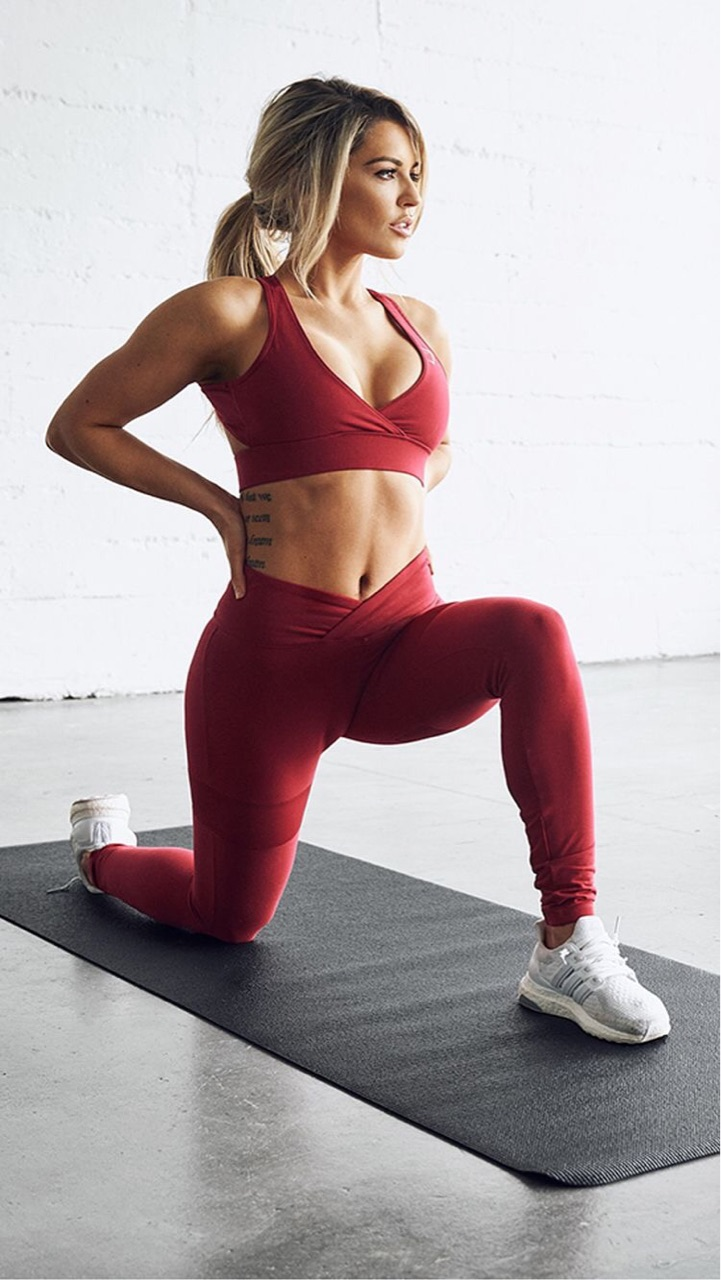 exercise, hair, and leggings image