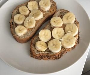 food, banana, and bread image