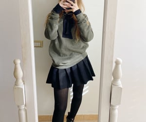 beige, style, and sweater image