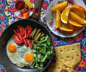 breakfast, delicious, and egg image