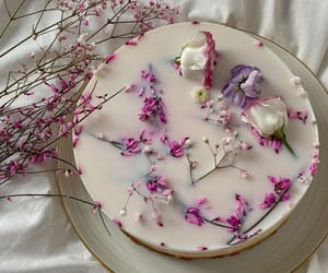 flowers, cake, and delicious image