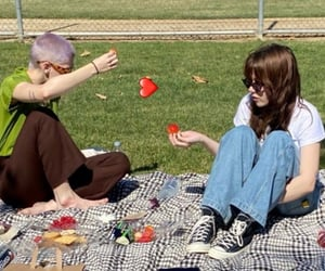 aesthetic, grunge, and picnic image