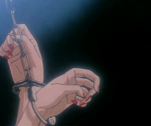 anime, handcuffs, and hands image