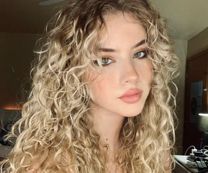 beautiful, blond, and blue eyes image