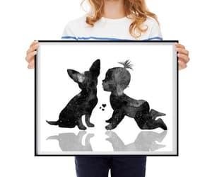 etsy, baby room decor, and dog love art image