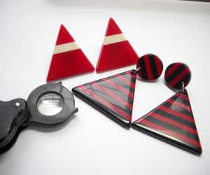 etsy, vintage earrings, and triangle earrings image