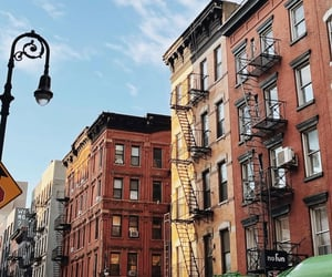 apartment, buildings, and new york city image