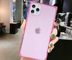 apple, pink, and coque image