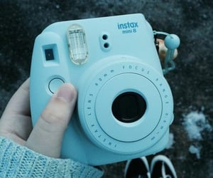 camera, instax, and blue image